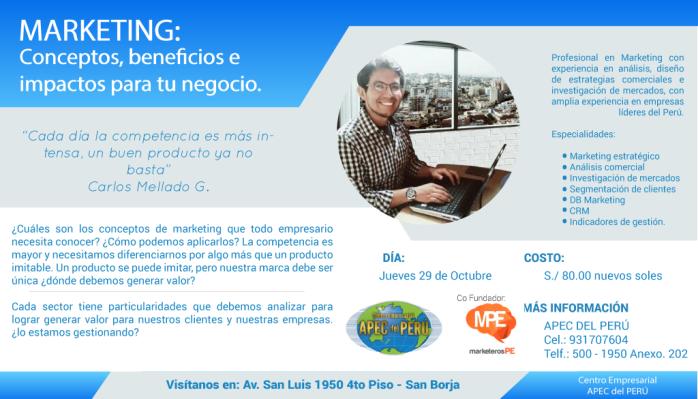 Carlos Mellado G-MarketerosPE-APEC-Marketing-conceptos,beneficios,impactos