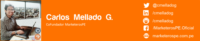 MarketerosPE-Carlos Mellado G-Marketing