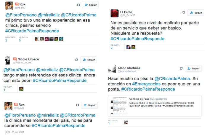 CRicardoPalmaResponde-Clínica-Ricardo-Palma-Redes-Sociales-Twitter-opiniones
