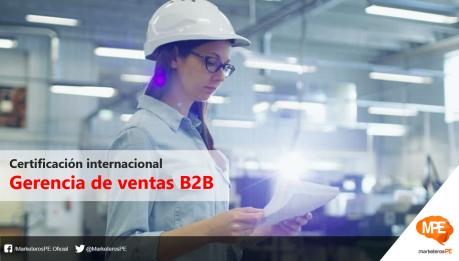 Certificación internacional - Gerencia de ventas B2B